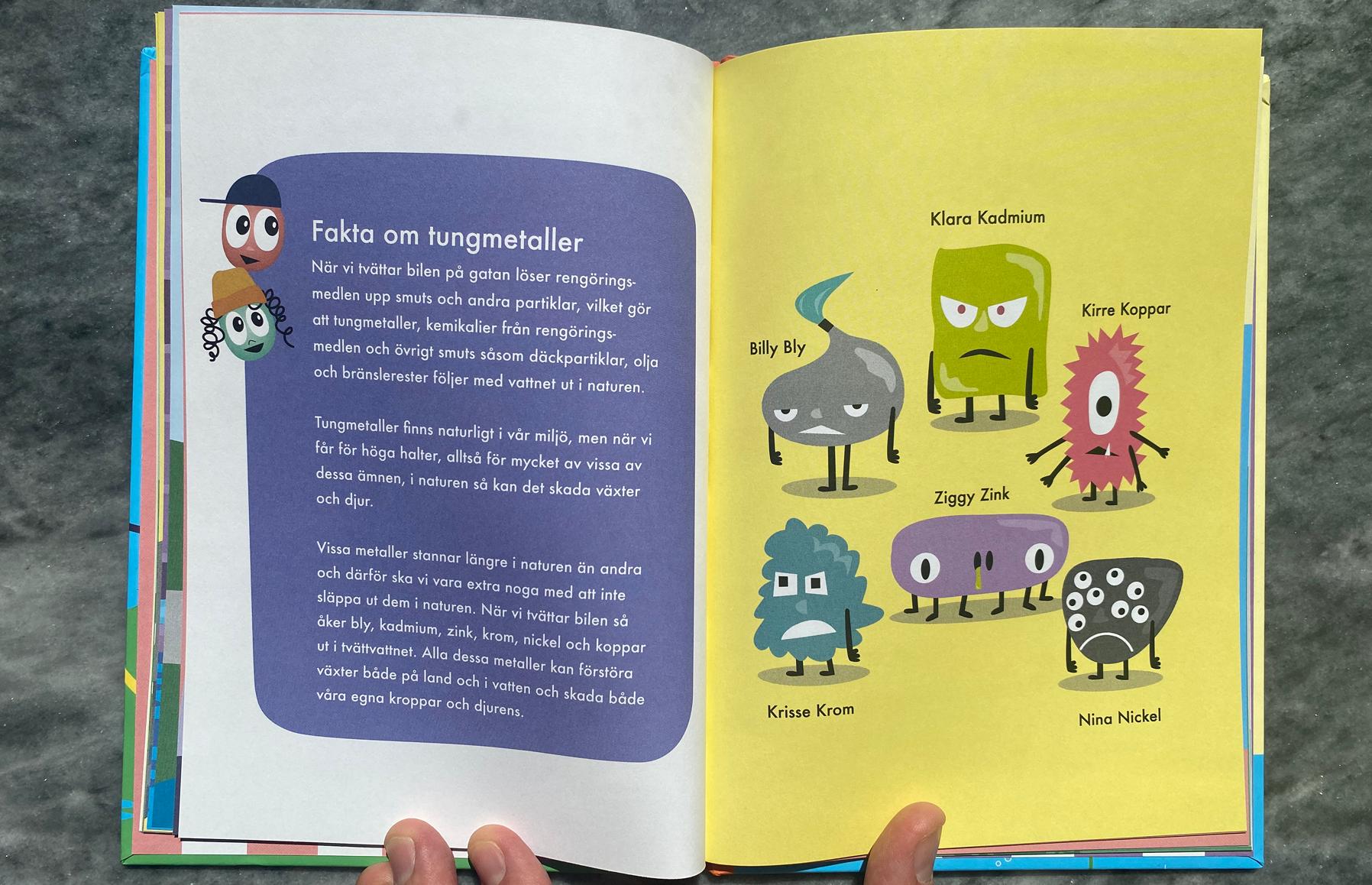 Jojo & Poppy. Barnbok på uppdrag av Hållbar  Biltvätt.